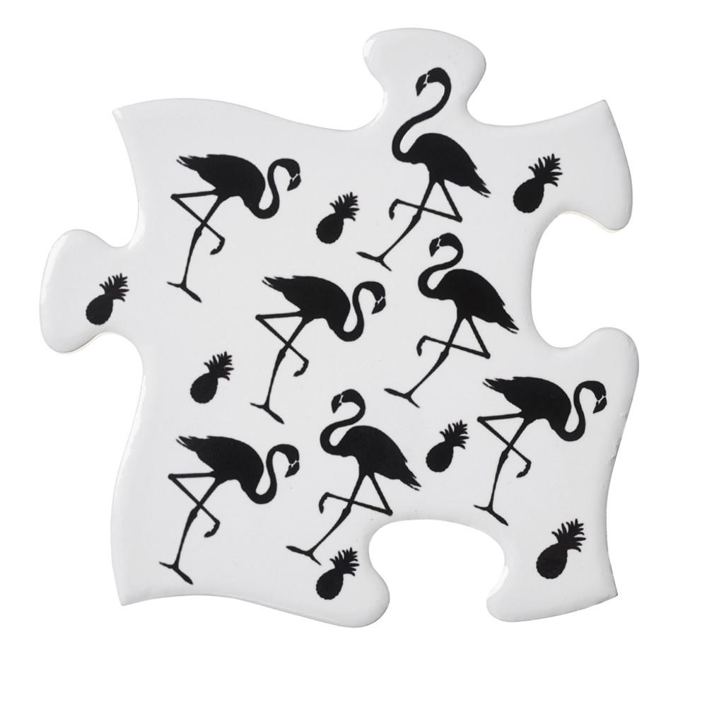 CJ2 - Flamingo / Pineapple Coaster Set