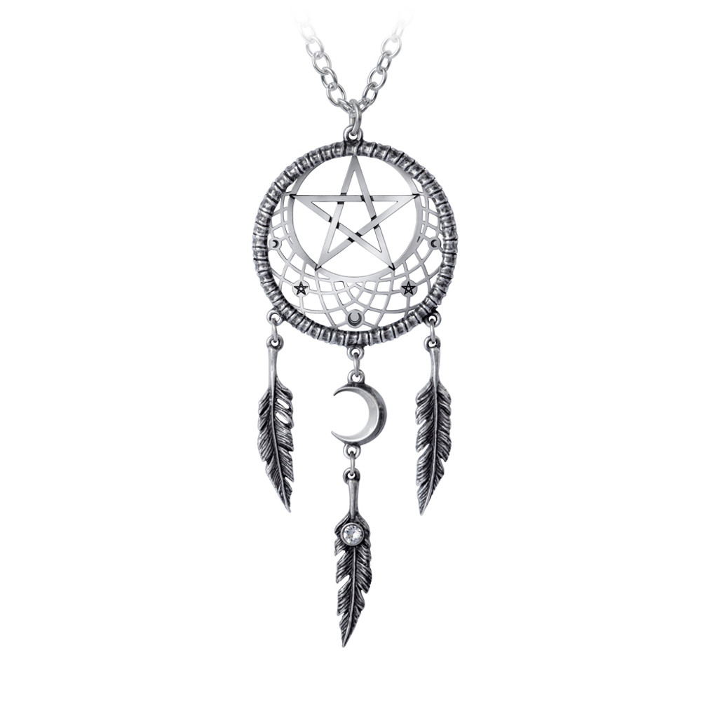 P873 - Pagan Dream Catcher Pendant