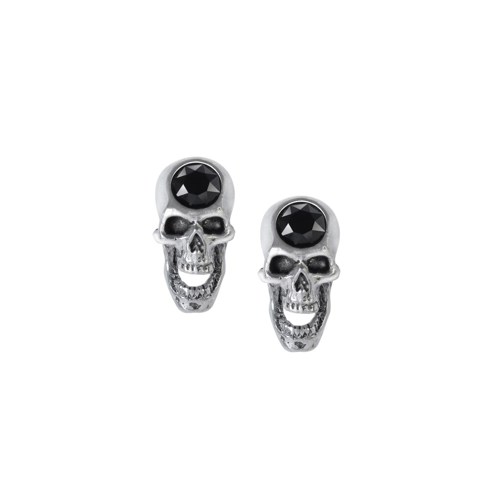 E427 - Screaming Skull Studs