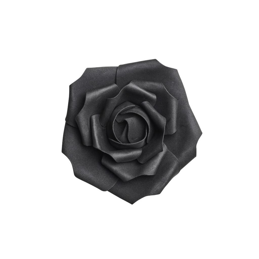 ROSE4 - Small Black Rose Head