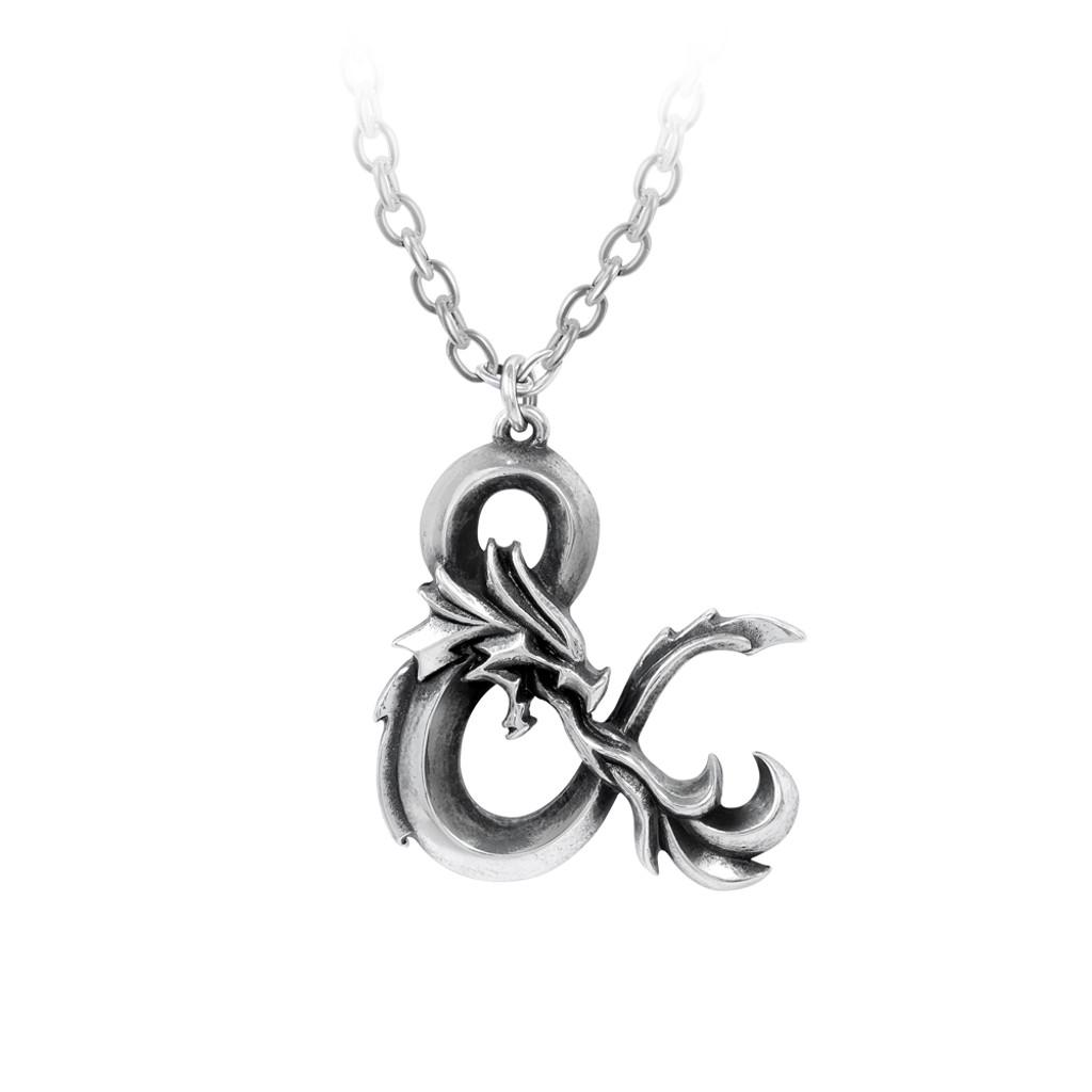 Alchemy Amber Dragon Thorhammer Necklace