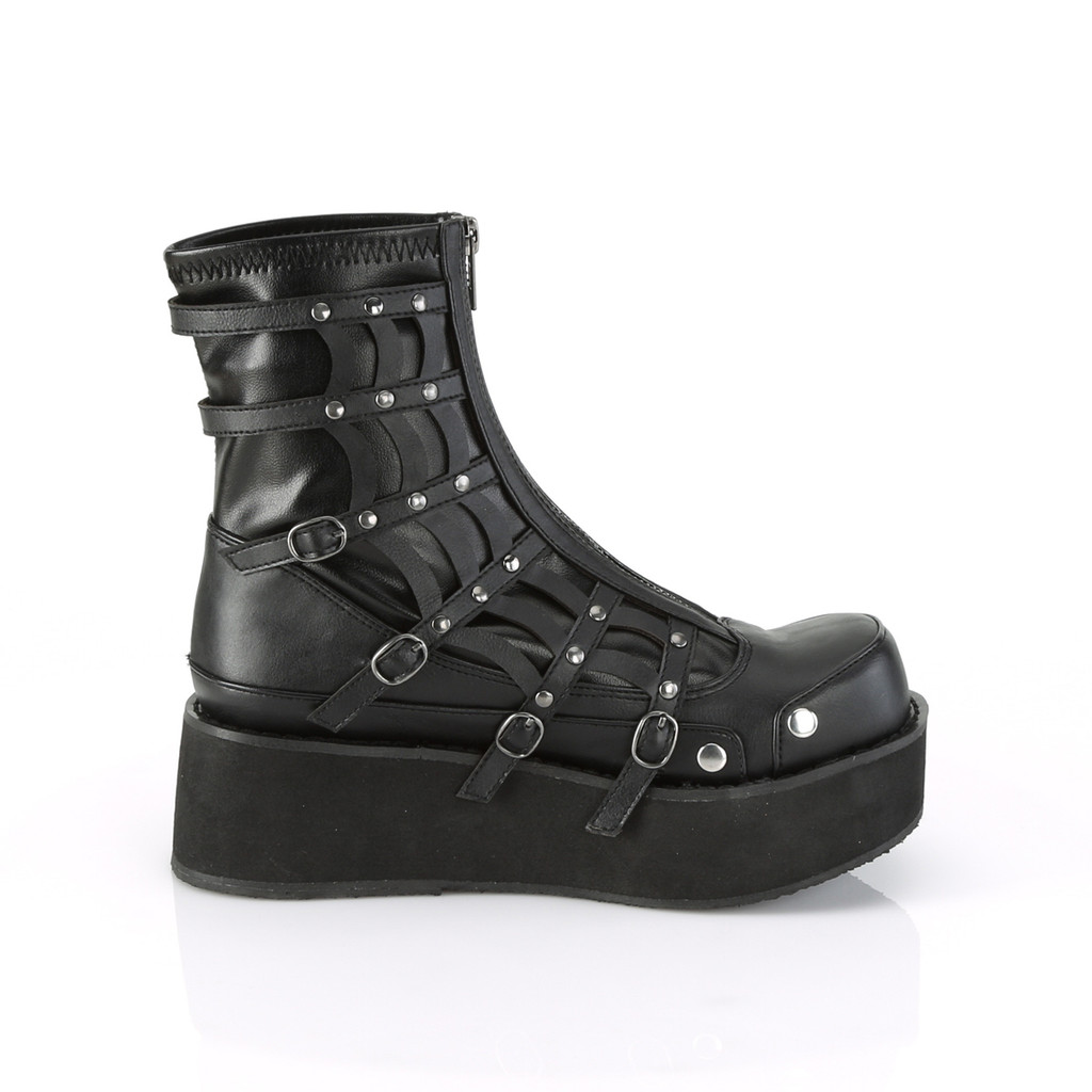 SPR100/BVL - Demonia Sprite 100 Black Vegan Stretch Leather