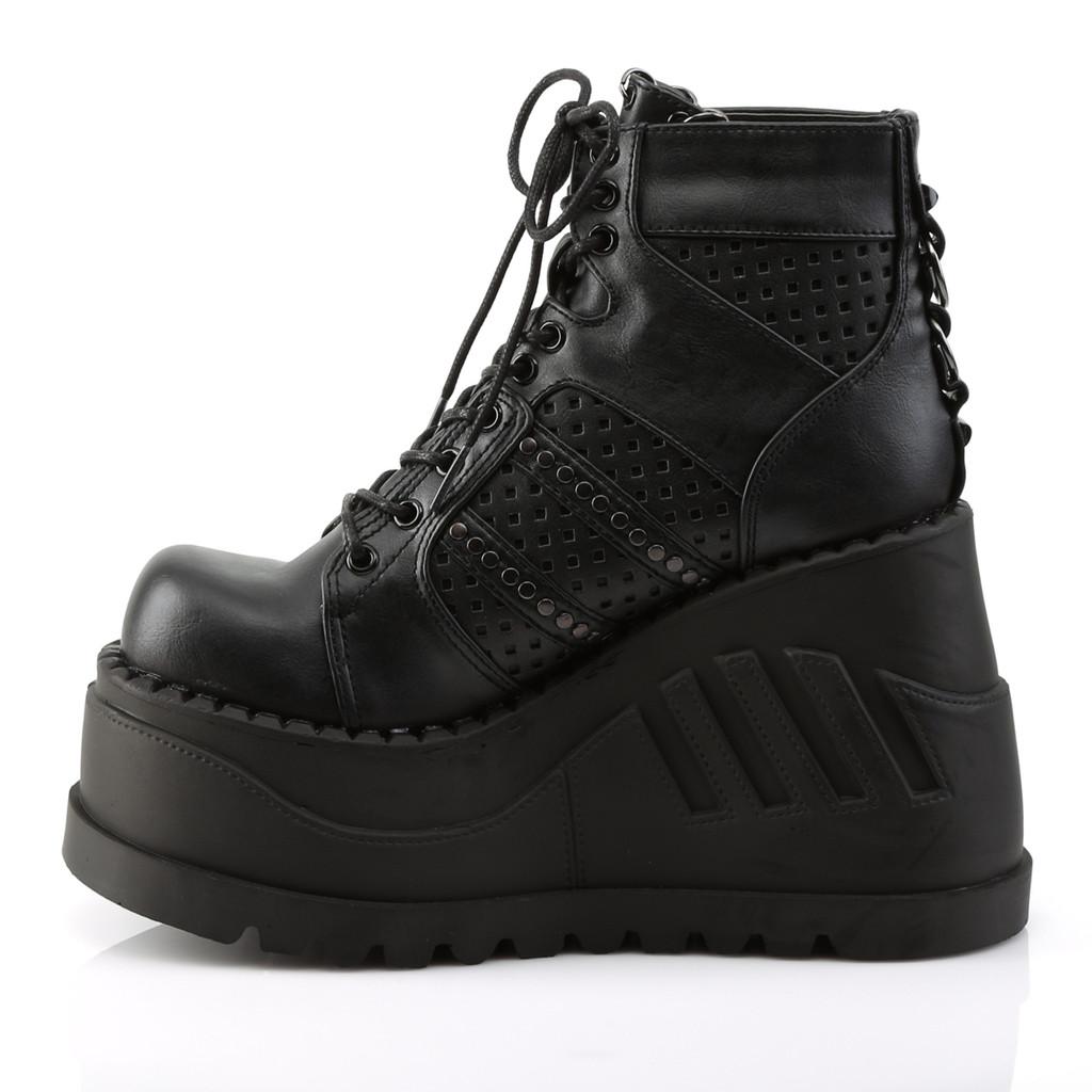 STO12/BVL - Demonia Stomp 12 Black Vegan Leather