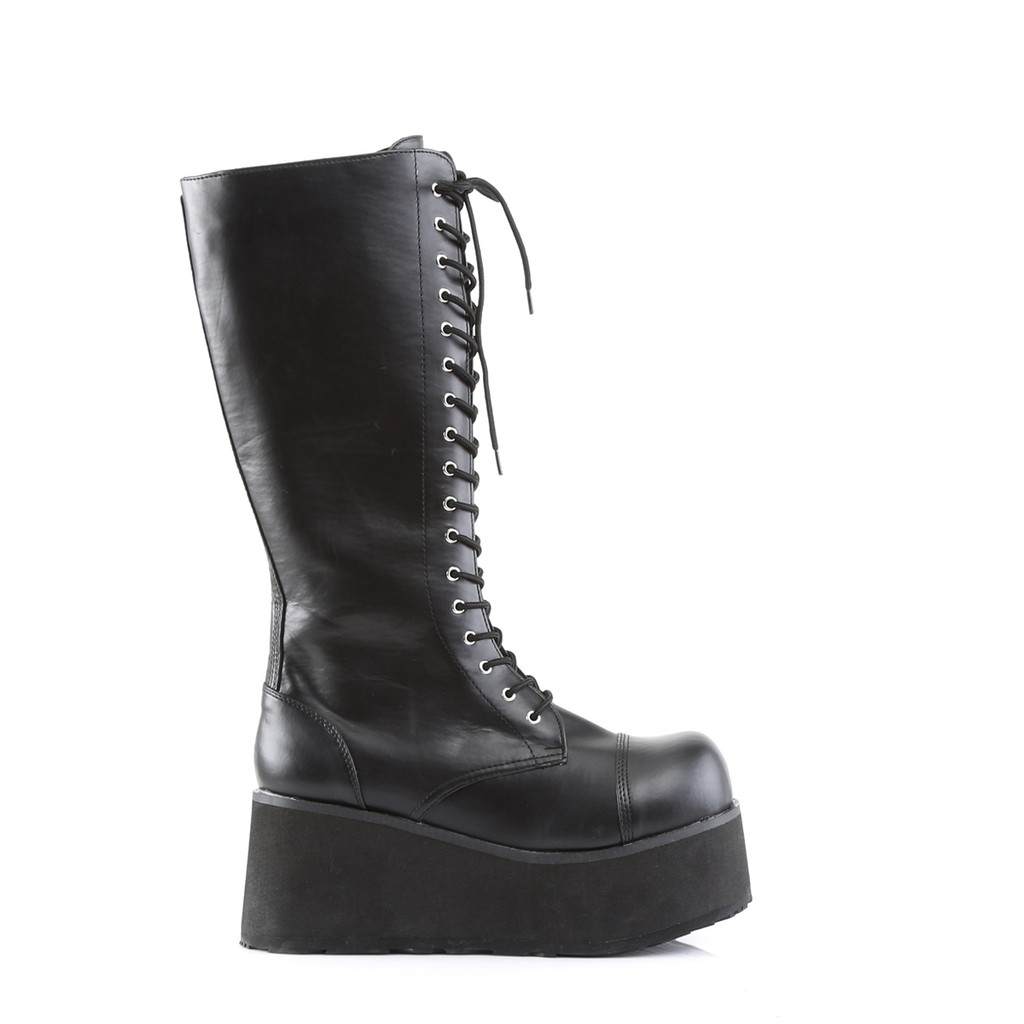 TRA502/B/BPU - Demonia Trashville 502 Black Vegan Leather