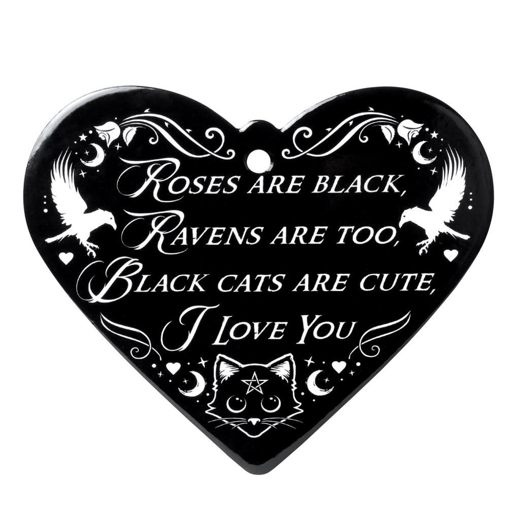 CT11 - Roses are Black Heart Trivet