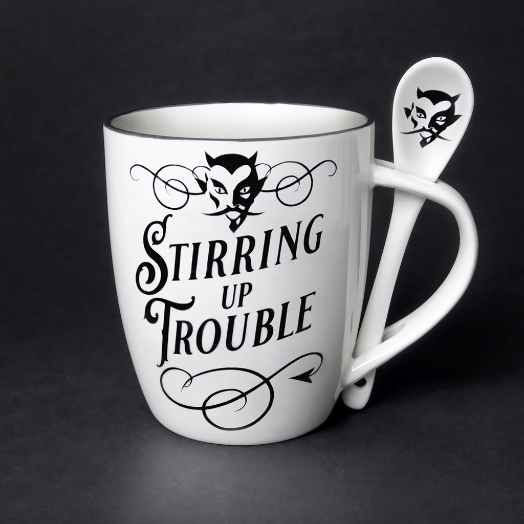 ALMUG17 - Stiring Up Trouble Cup and Spoon