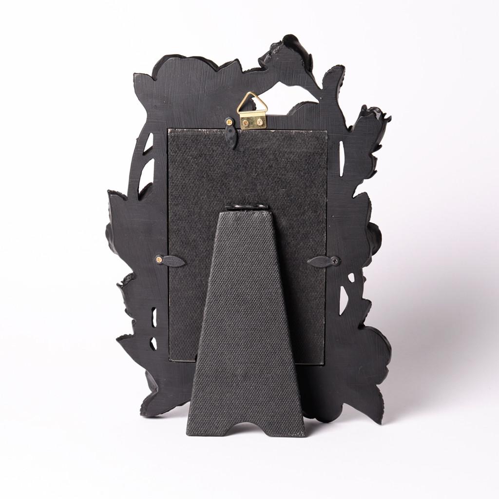 """SA17 - Rose & Vine Photo Frame (6x4"""") Black"""