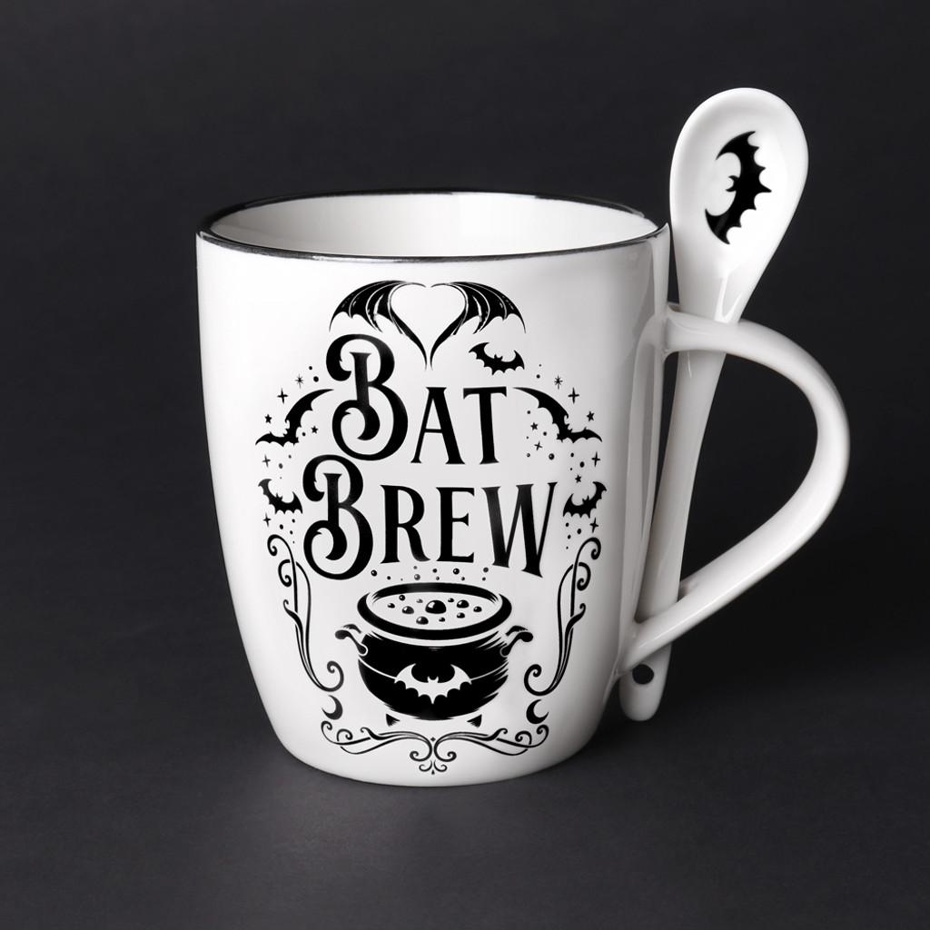 ALMUG21 - Bat Brew Mug & Spoon Set