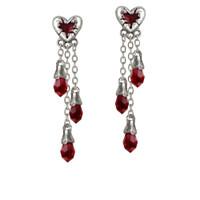 E272 - Bleeding Heart Earrings