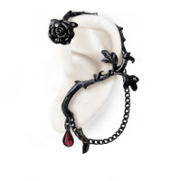 E276 - Rose of Passion Ear Wrap