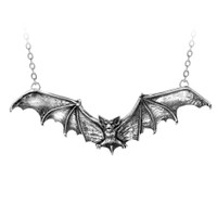 P121 - Gothic Bat Necklace