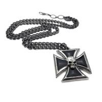 P617 - Black Knight's Cross Pendant