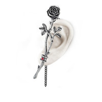 E344 - Chained Love Rose Earwrap