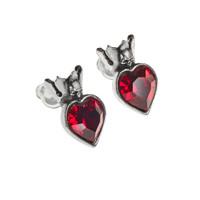 E379 - Claddagh Heart Earstuds