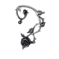 E410 - Black Rose Ear Wrap