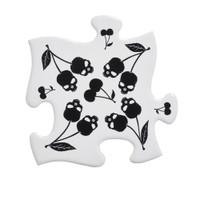 CJ4 - Black Skull Cherries Coaster Set