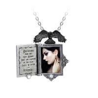 P897 - Poe's Raven Locket Necklace