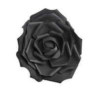 ROSE3 - Large Black Rose Head