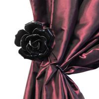 SCR1 - Black Rose Hanger/Tie Back