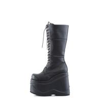 WAV302/B/PU - Demonia Wave 302 Black Vegan Leather