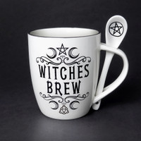 ALMUG16 - Crescent Witches Brew Cup and Spoon
