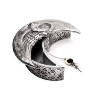V104S - Skull Moon Box - Silver