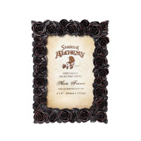 "SA18 - Rose Photo Frame (6x4"") Black"
