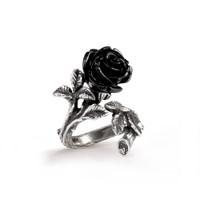 R241 - Wild Black Rose Ring