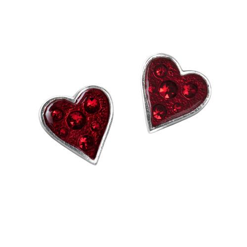 E332 - Heart's Blood Earrings