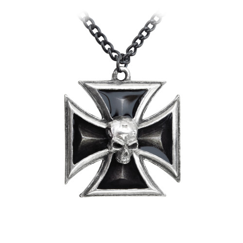 P617 - Black Knight's Cross Pendant