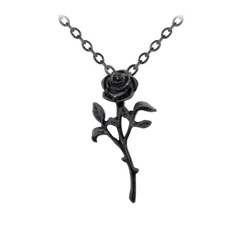 P695 - The Romance of The Black Rose Pendant