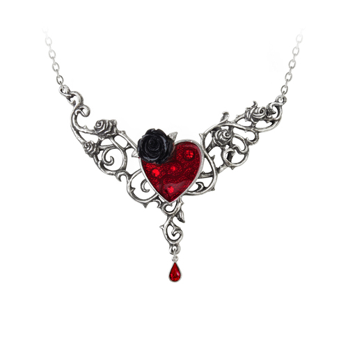 P721 - The Blood Rose Heart Pendant
