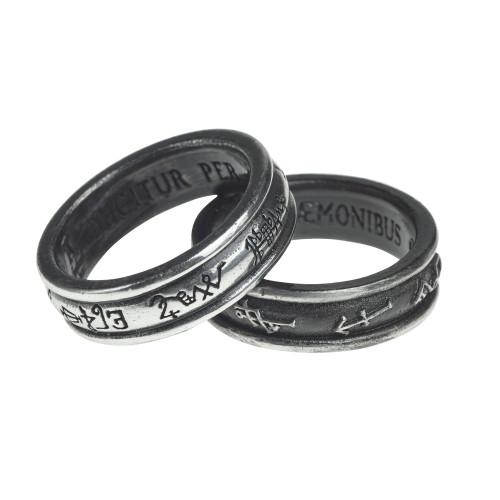 R212 - Demon Black & Angel White Ring