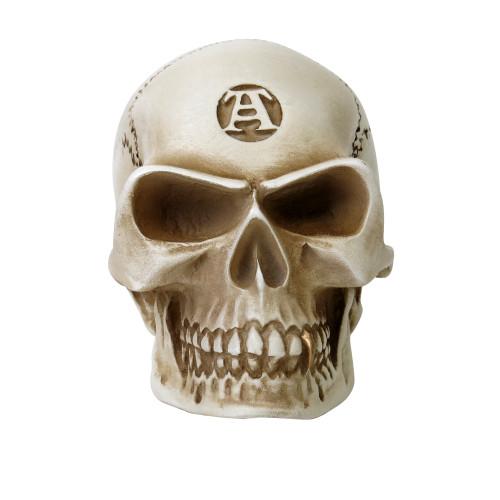 V40 - Bone Colored Skull Paperweight