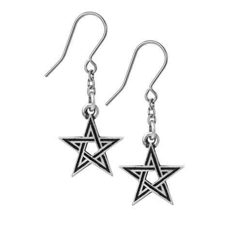 E395 - Black Star Earrings