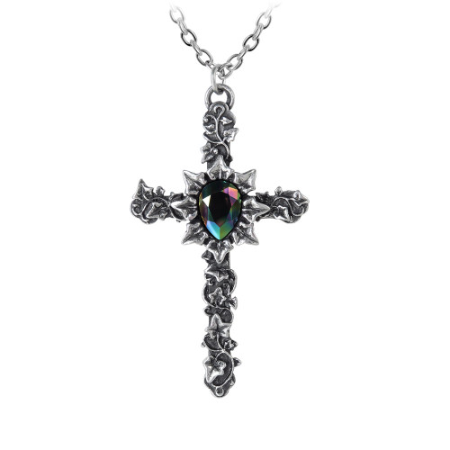 P804 - Ivy Cross Pendant