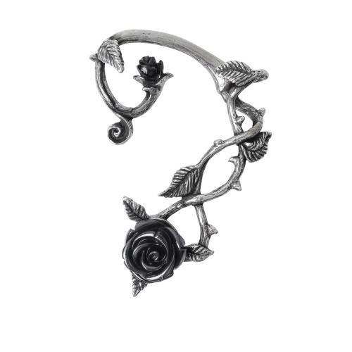 E410 - Black Rose Ear Wrap