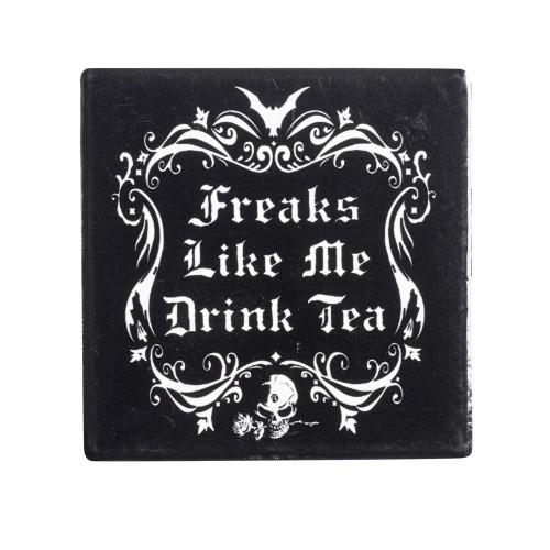 CC5 - Freaks Like Me Drink Tea Coaster