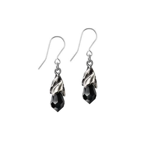 E437B - Empyrean Tear Earrings (Black)
