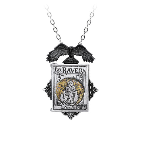 P897 - Poe's Raven Locket Necklace