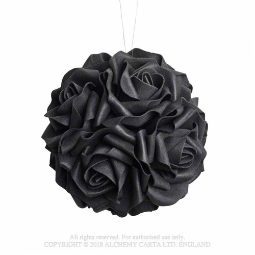 ROSE6 - Black Rose Decorative Hanging Ball