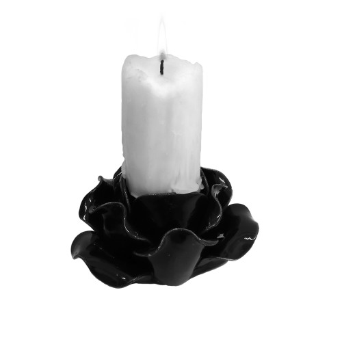 SCR3 - Black Rose Candle Holder/Pot