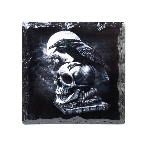 CC12 - Poes Raven Slate Coaster