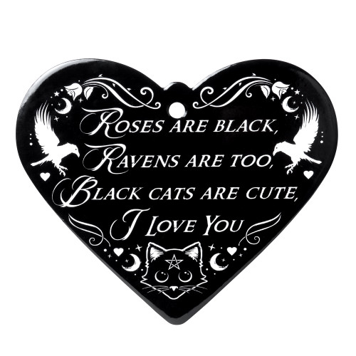 CT11 - Roses are Black Heart Trivet