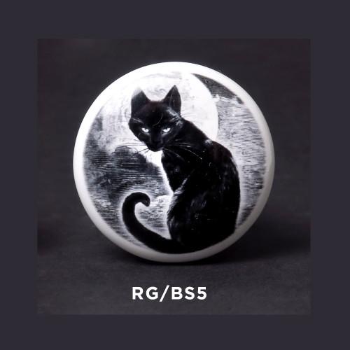 RGBS5 - Black Cat Bottle Stopper