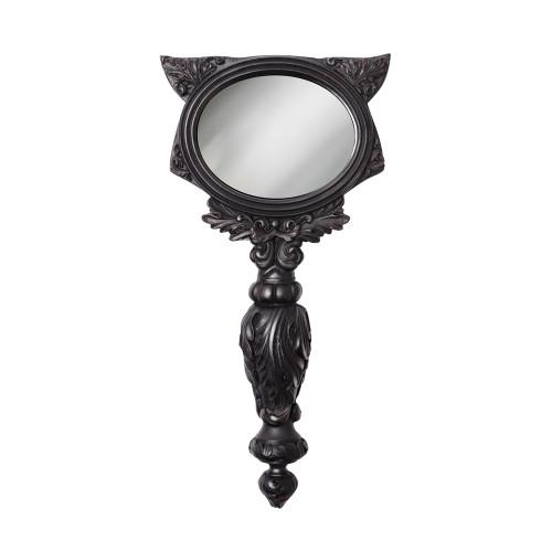 V64B - Black Cat Hand Mirror