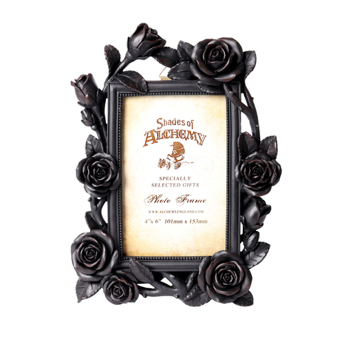 "SA17 - Rose & Vine Photo Frame (6x4"") Black"