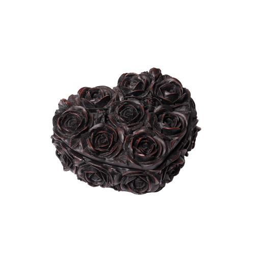 SA19 - Rose Heart Box - Black