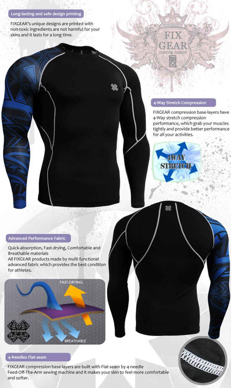 FIXGEAR C3L//P2L-B70 SET Compression Shirts /& Pants Skin-tight MMA Training Gym