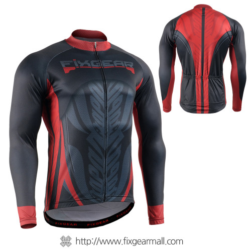 FIXGEAR CS-7201 Men's Long Sleeve Cycling Jersey